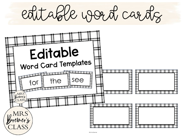 Word Wall editable to print your own spelling words sight words  for the classroom K-2