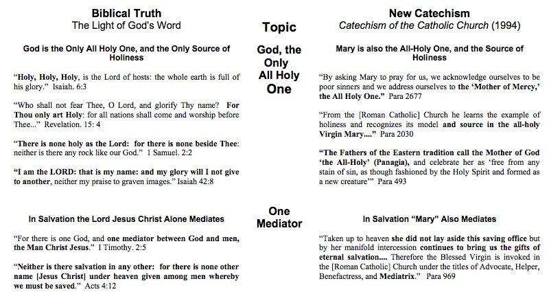 Compare And Contrast The Roman Catholic Church With The Baptist Church