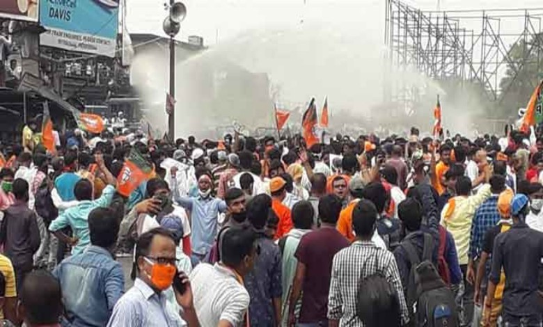 Police fired tear gas at the BJP's peaceful procession! Dilip's complaint!
