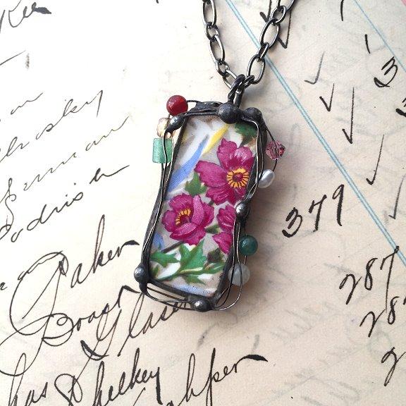 original broken china jewelry by Laura Beth Love