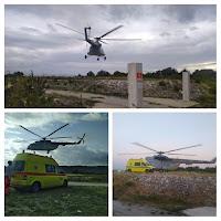 Helikopterski medicinski prijevoz slike otok Brač Online