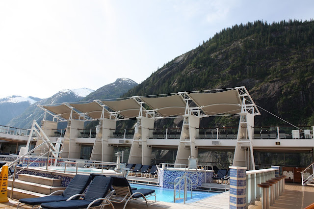 View of Alaskan mountains from Solstice of the Seas