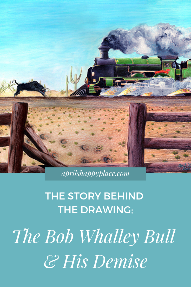 The Story Behind The Drawing: The Bob Whalley Bull and His Demise - April's Happy Place
