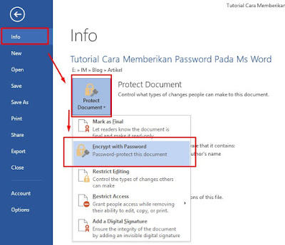 Cara Memberikan Password Pada Ms Word