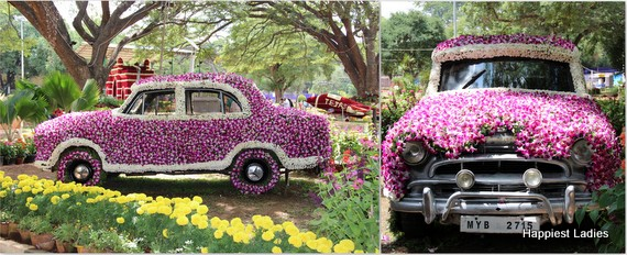 Dasara Flower Show 2016 - rose decorated car