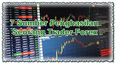 7 Sumber Penghasilan Seorang Trader Forex