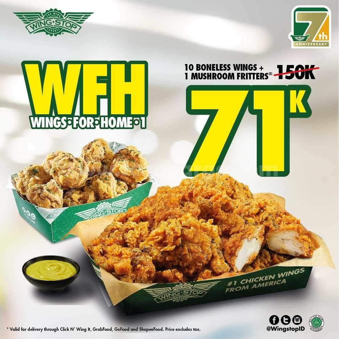 Wingstop Promo Paket WFH (Wings For Home) harga mulai Rp 71 Ribu-an