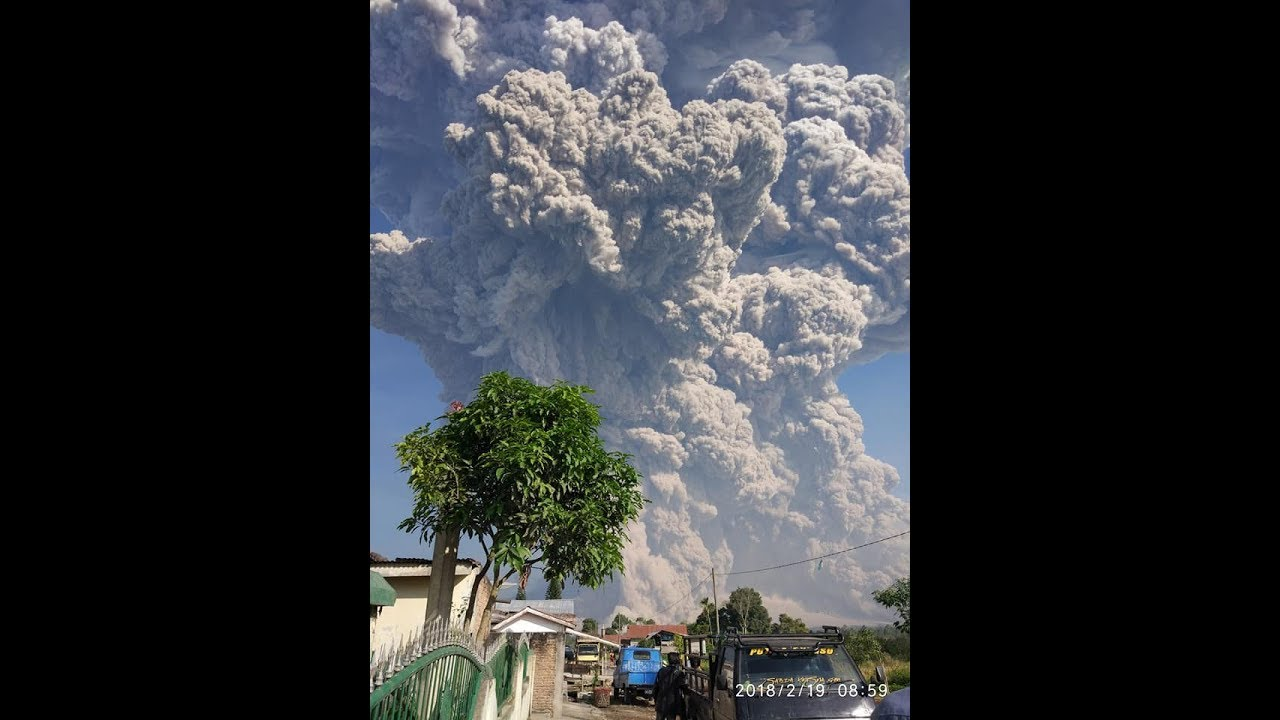 Inilah Letusan Gunung Sinabung