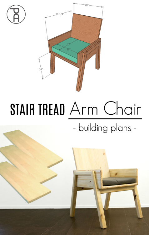 how to build modern mid-century minimal easy simple wood arm chair seat video tutorial
