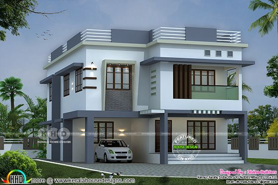 ₹55 lakhs cost estimated 5 BHK Kerala house plan
