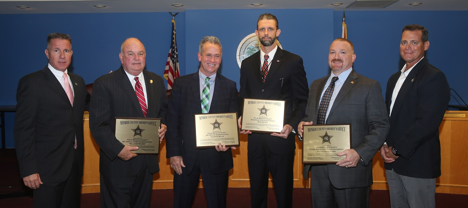 On Friday Sheriff Rick Ramsay And Retired Major Crimes Detective Vince Weiner Presented This Group Of Investigators Prosecutors From Palm Beach County