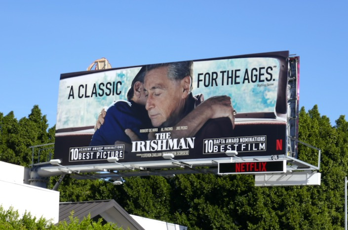Irishman classic for the ages Oscar billboard