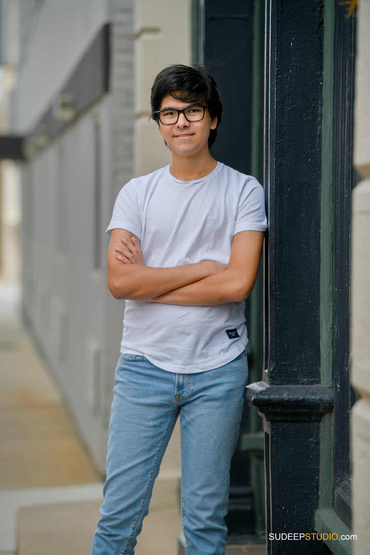 Senior Portrait for Guys Community School Urban Downtown SudeepStudio.com Ann Arbor Senior Pictures Photographer