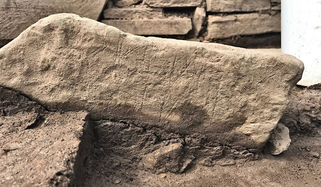 Decorated Neolithic stone discovered in Orkney