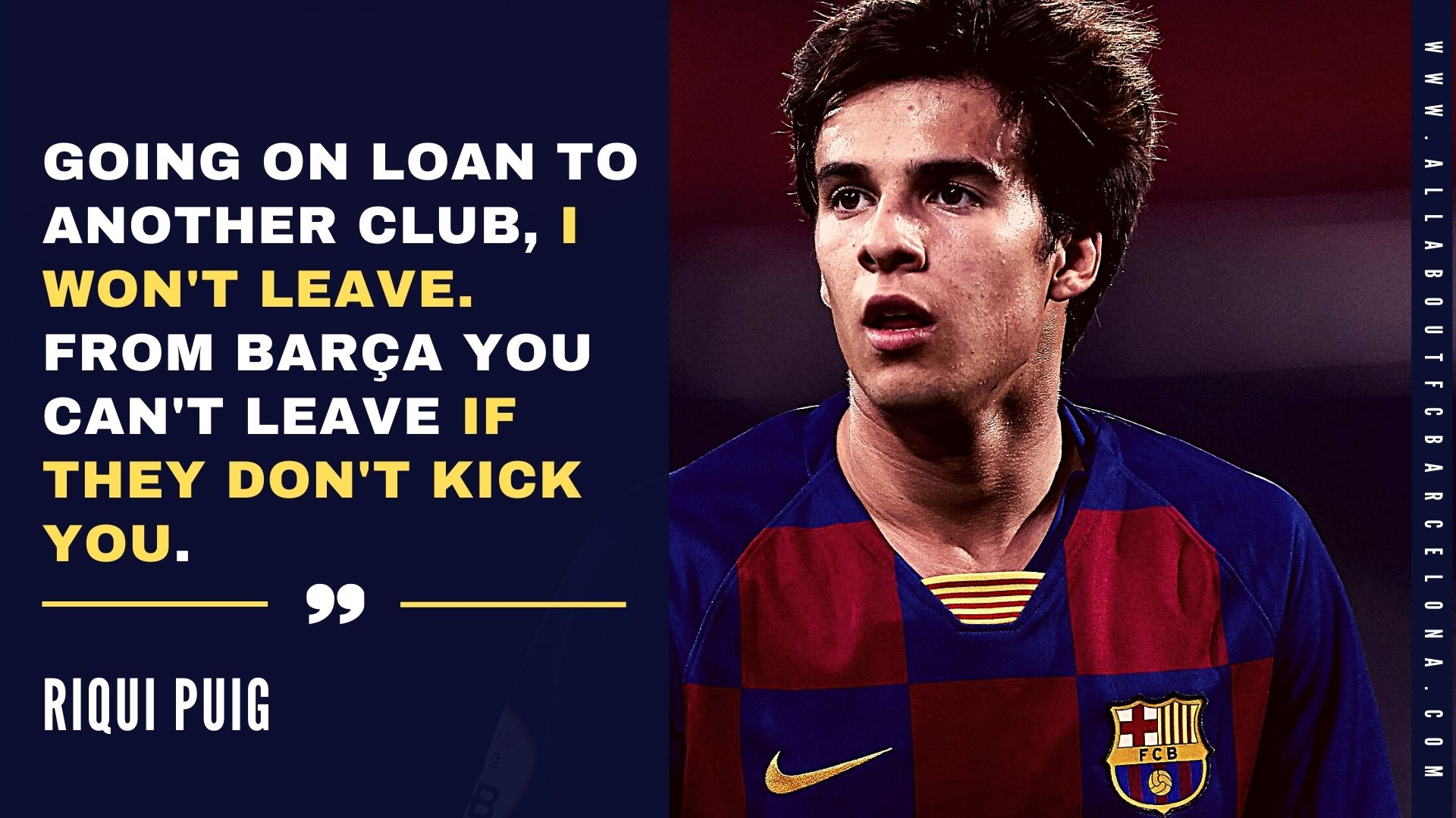 Riqui Puig on the verge of being kicked out of FC Barcelona