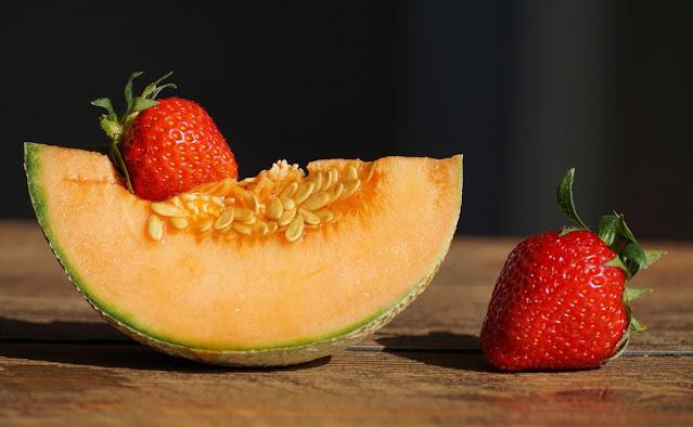 Batido de melón y fresas