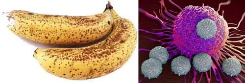 Las bananas maduras con muchas manchas no curan el cáncer