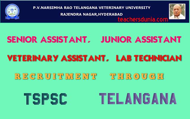 TSPSC-Senior-Assistant-Junior-Assistant-Veterinary-Assistant-Recruitment-in-AHDD&F-Dept