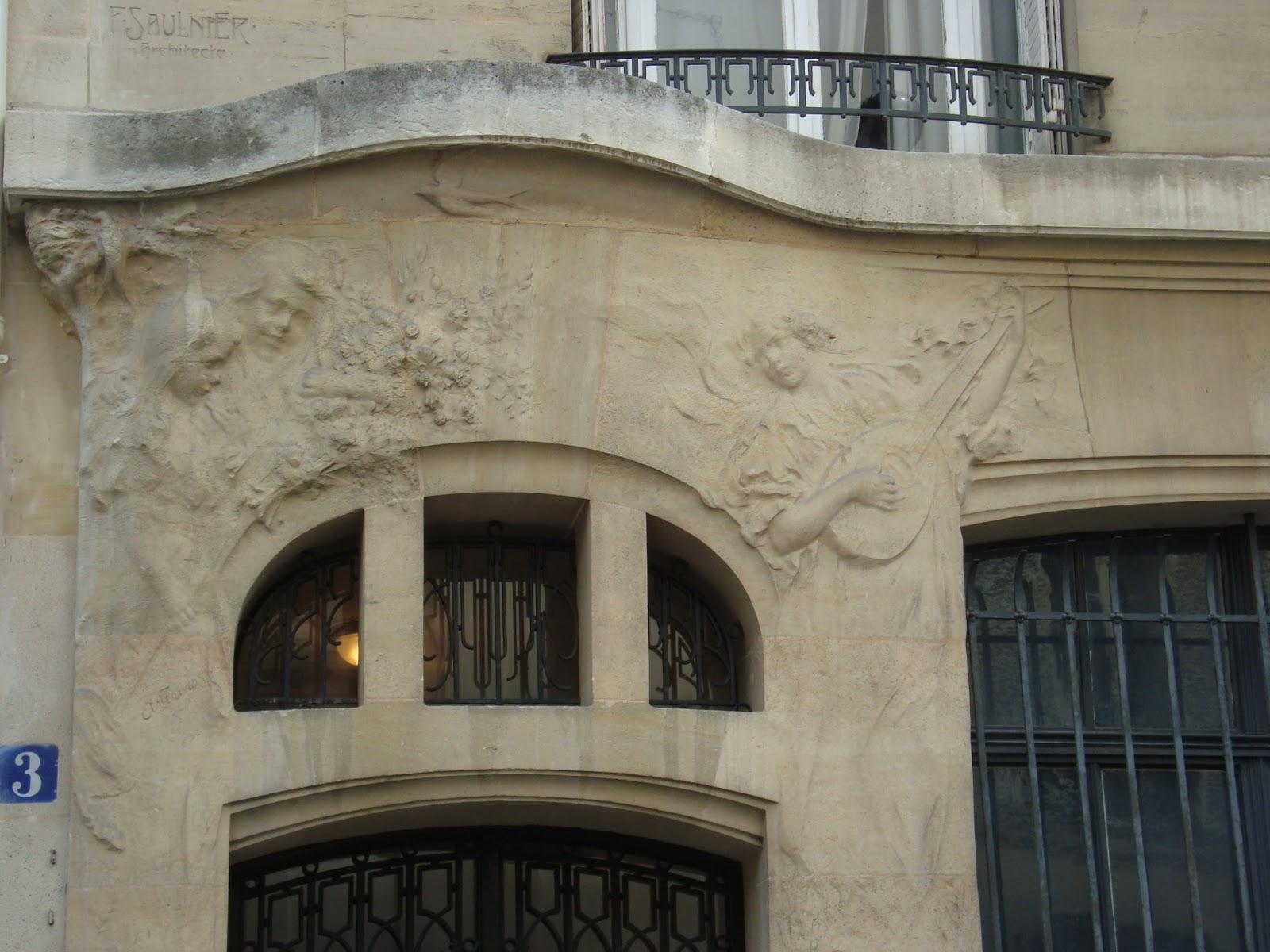 paseos art nouveau porte 37 3 rue cassini paris xiv architecte f saulnier sculpteur andr. Black Bedroom Furniture Sets. Home Design Ideas