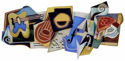 """""""Doodle"""" Homenagem do """"Google"""" a JUAN GRIS pelos 125 Anos de Nascimento (23 de Março de 2012)"""