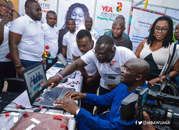Vice President Bawumia Launches YEA's Job Centre, Other Initiatives