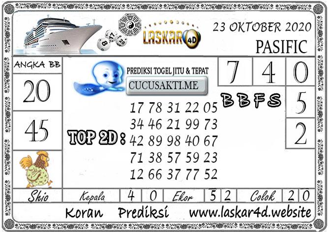 Prediksi Togel PASIFIC LASKAR4D 23 OKTOBER 2020