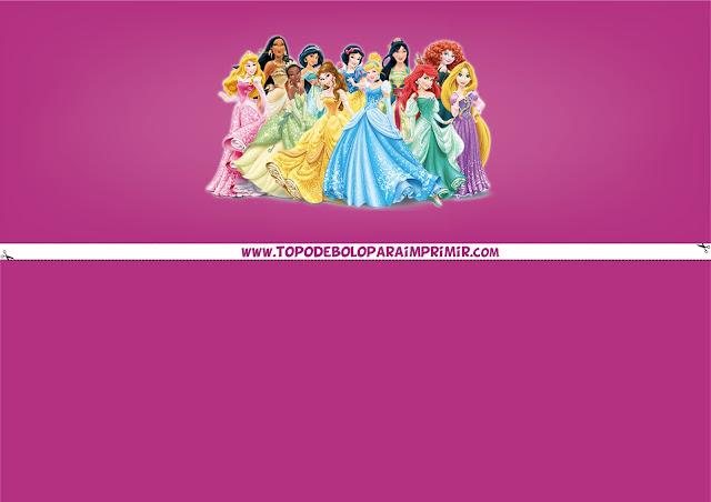 faixa lateral princesas da disney para imprimir