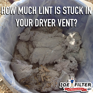 Dryer lint from dryer vent