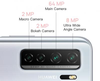 Huawei Nova 7SE 5G Cameras