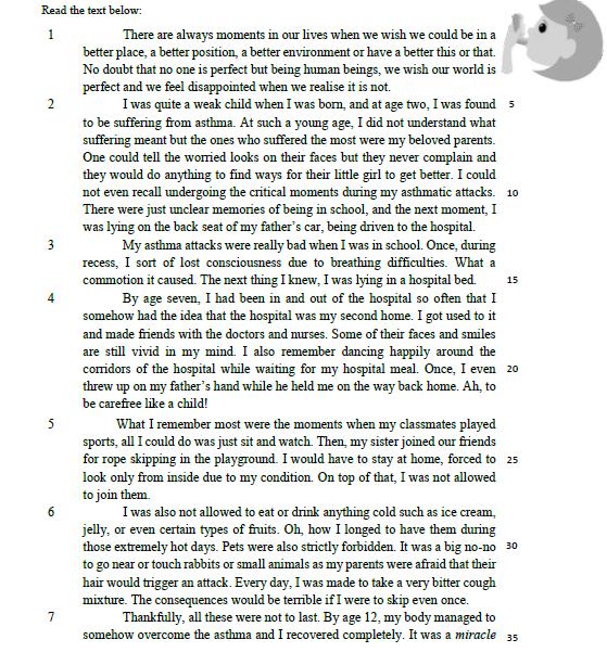 Form 4 English Setiabudi: 1) February 2017: Summary Writing 1