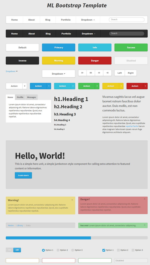UI Kits for Web Design Free HTML5/CSS3 - Part2 - دروس4يو Dros4U