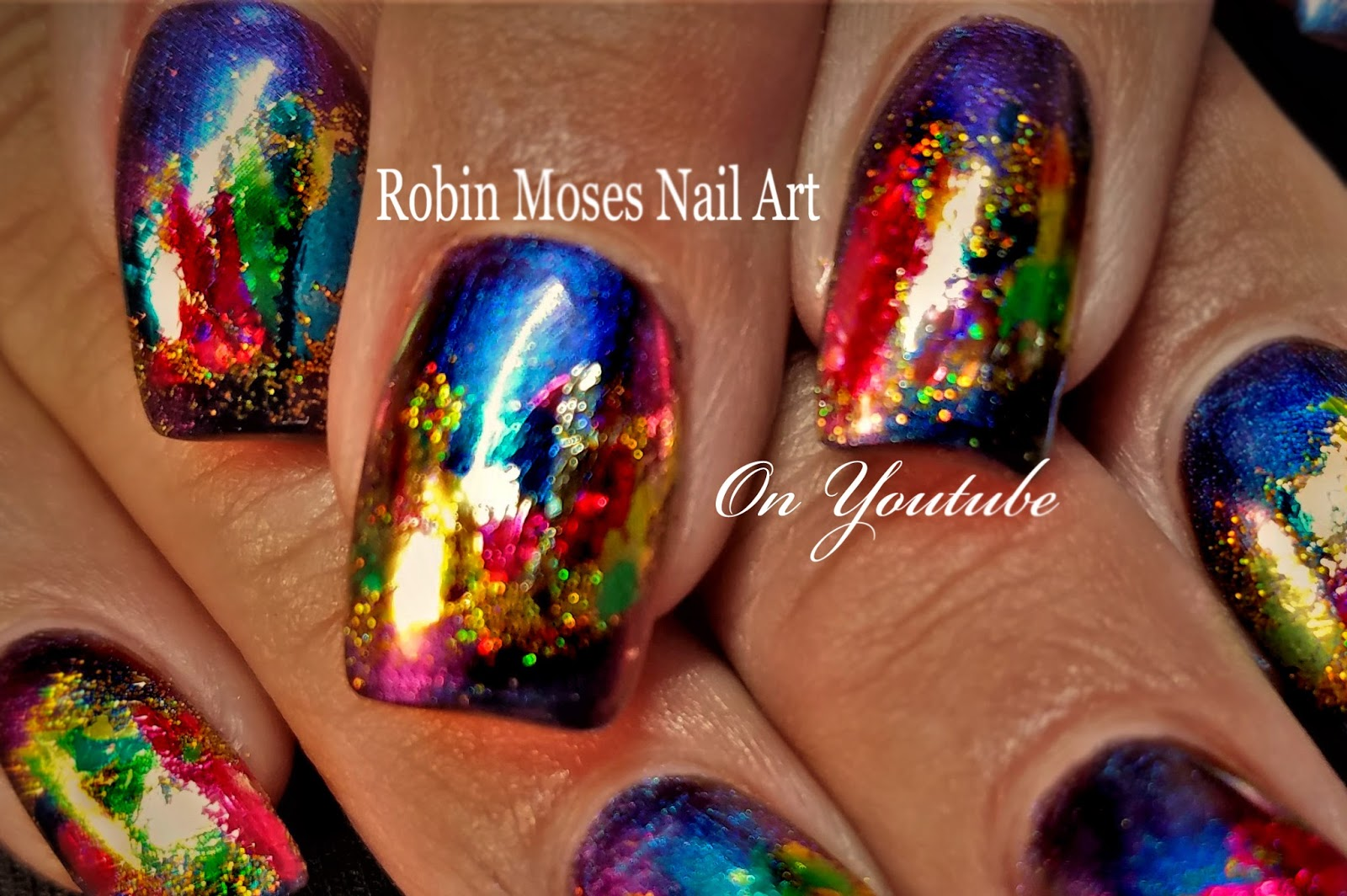 Nail Art by Robin Moses: Tips for Foiling nails with glitter ...
