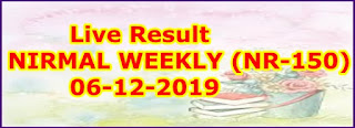 NIRMAL WEEKLY (NR-150) 06/12/2019 Kerala Lottery Result