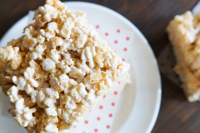 Brown Butter Rice Krispies Treats with homemade marshmallow creme