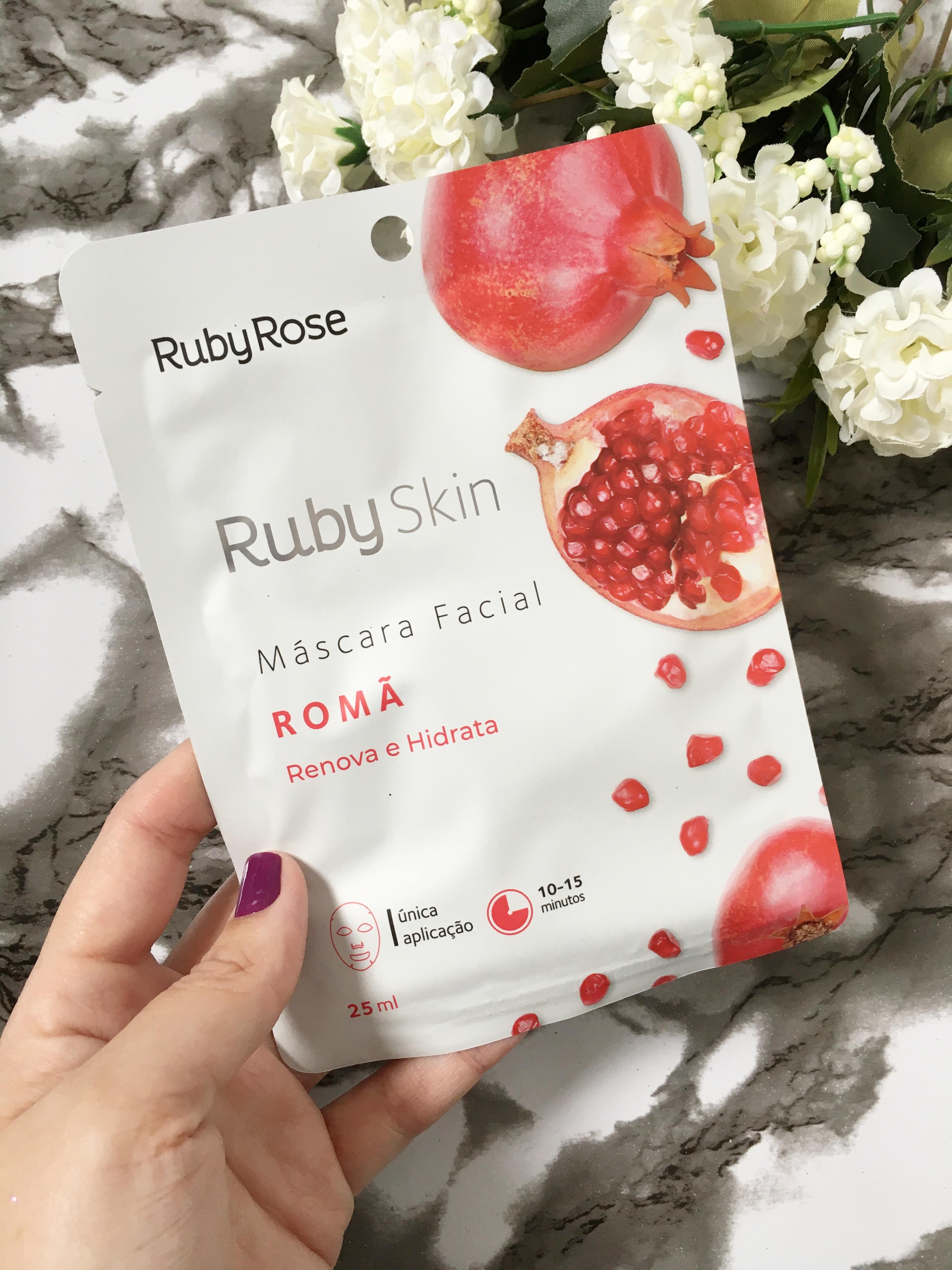RESENHA: MÁSCARA FACIAL DE ROMÃ DA RUBY ROSE.