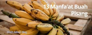13 Manfa'at Buah Pisang