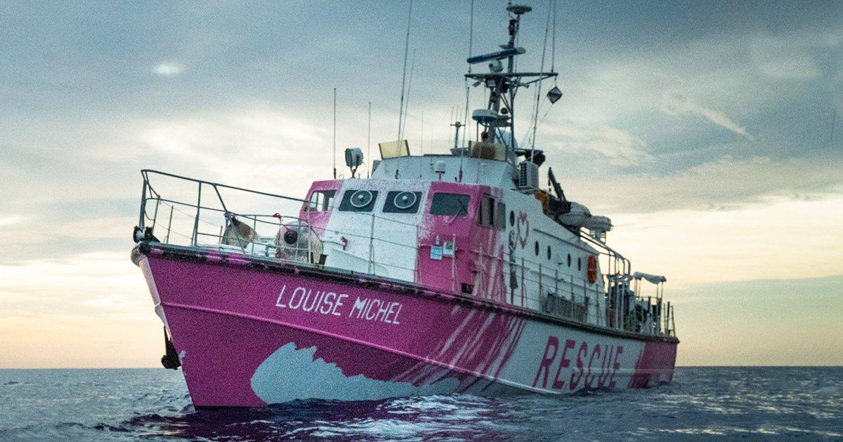 Banksy sponsored ein Mittelmeer Flüchtlings-Rettungsschiff unter deutscher Flagge | StreetArt rettet Menschenleben