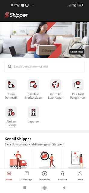shipper sangat mudah digunakan