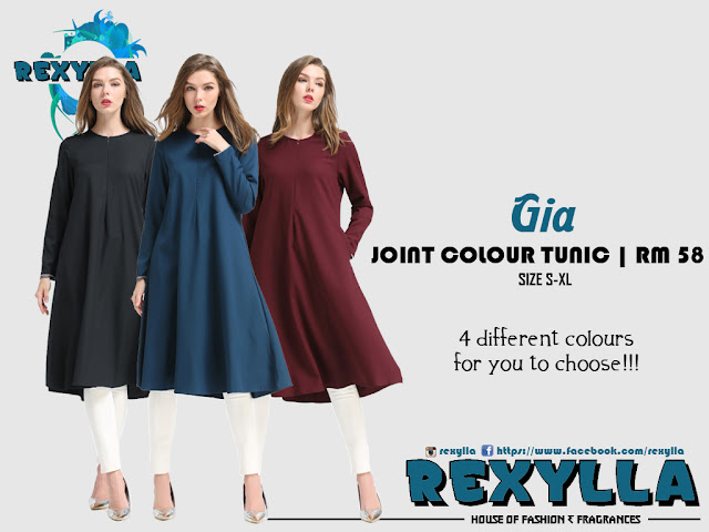 rexylla, joint colour, joint colour tunic, gia collection