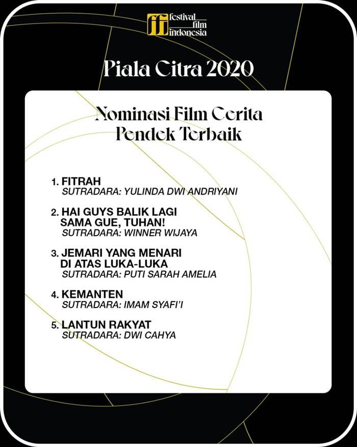 nominasi Film Cerita Pendek Terbaik FFI 2020