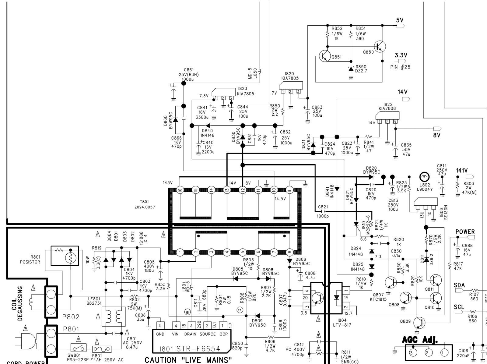 foil side on main board power section