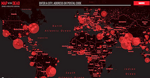 Apocalipse Zumbi: revelado mapa mundial de risco e lista das piores cidades