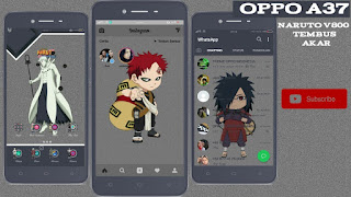 OPPO (color os) theme : naruto v800
