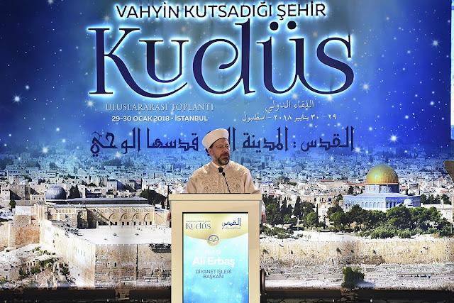 رئيس الشؤون الدينية التركية: القدس قضيتنا اليوم وغداً وفي كل زمان
