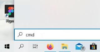 Cari CMD pada search bar