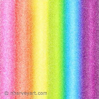 """Rainbow Ices"" digital art rainbow stripes"