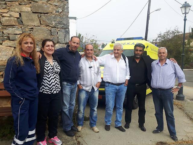 ΕΚΑΒ Ανωγείων : Επίσκεψη του Αντιπροέδρου του ΕΚΑΒ Μ. Μυλωνά