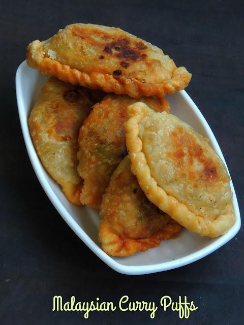 Malaysian Vegetarian Curry Puffs,Epok Epok,Karipap Pusing