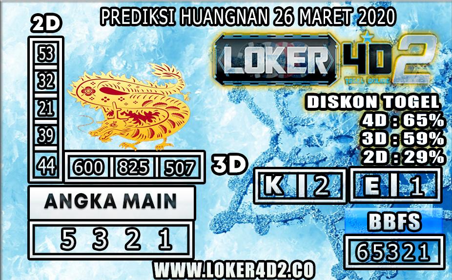 PREDIKSI TOGEL HUANGNAN LOKER4D2 26 MARET 2020