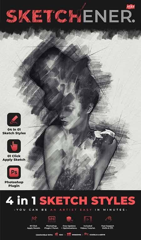 Graphicriver Sketchener - Sketch Photoshop Plugin 28292293